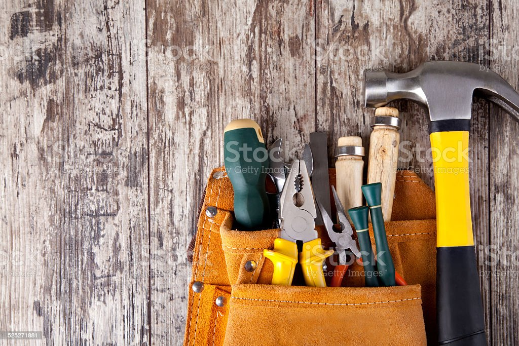 set of tools stock photo