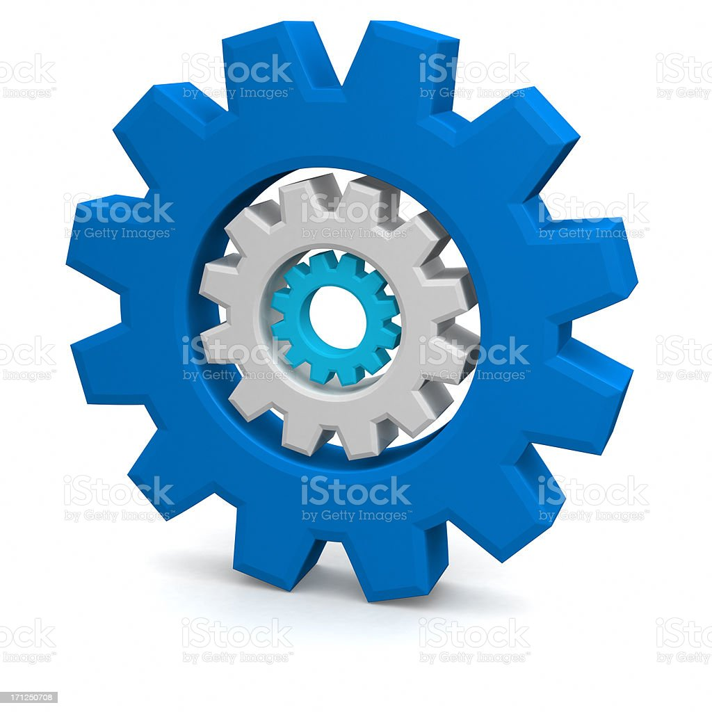 Set of toothed gear wheels royalty-free stock photo