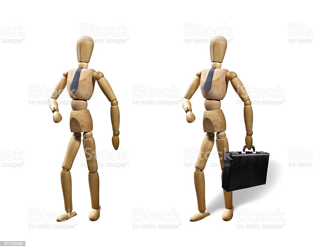 Set of two puppets stock photo