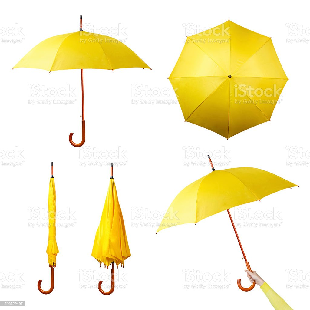Set of umbrellas stock photo