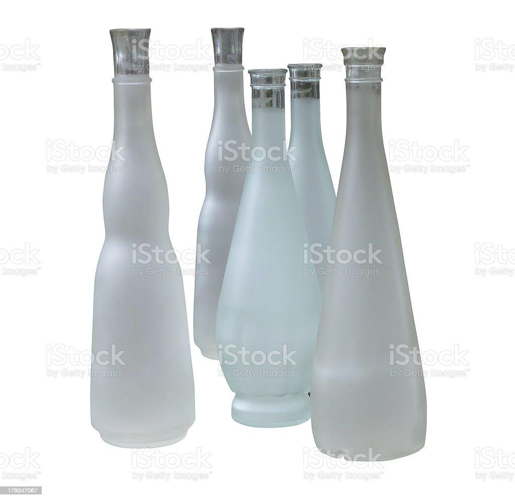 Conjunto de frascos de indefinido bonito isolado sobre o branco foto de stock royalty-free