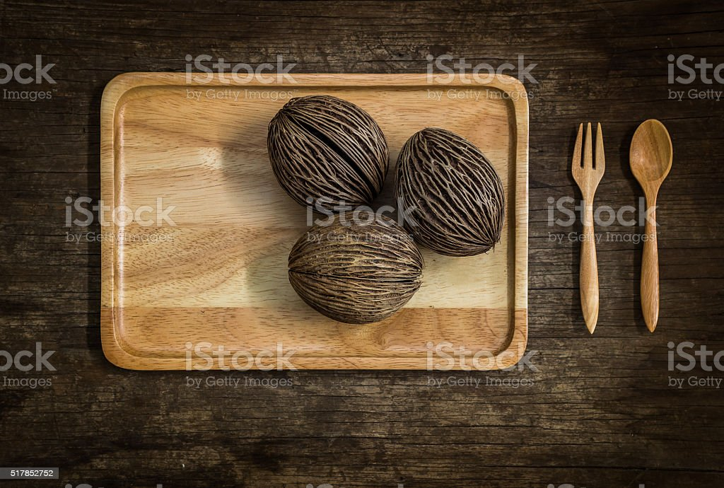 Set of utensils with pong-pong stock photo