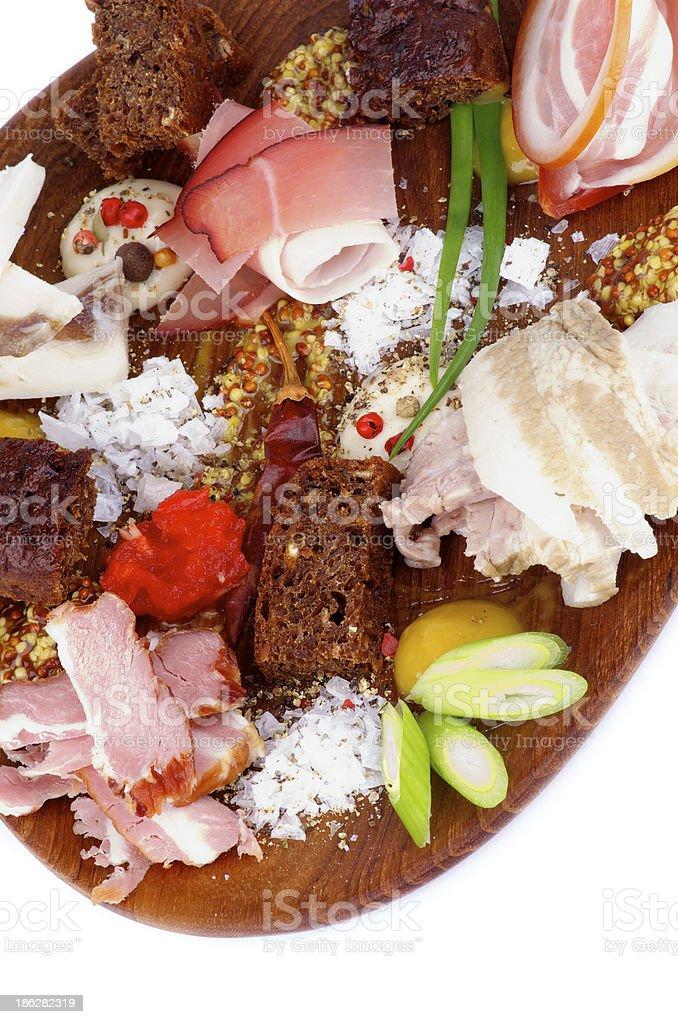 Set of Various Ham royalty-free stock photo