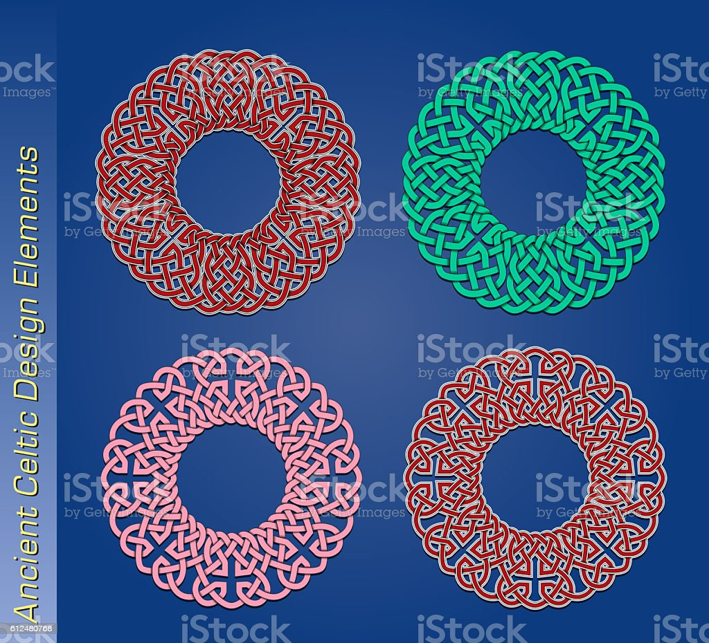 Set of vector celtic design elements stock photo