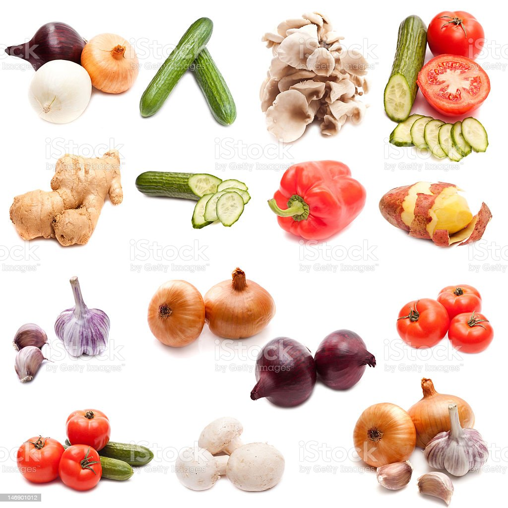 set of vegetables royalty-free stock photo