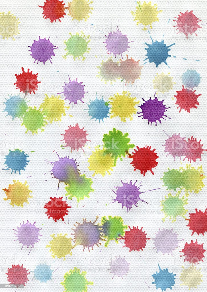 Set of watercolor blobs, isolated on white background royalty-free stock photo