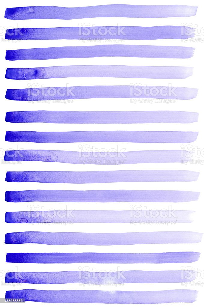 Set of watercolor paint brush strokes are isolated royalty-free stock photo