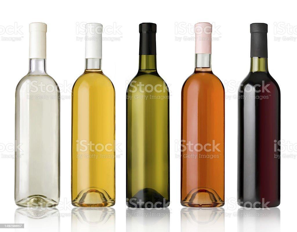 Set of Wine Bottles stock photo