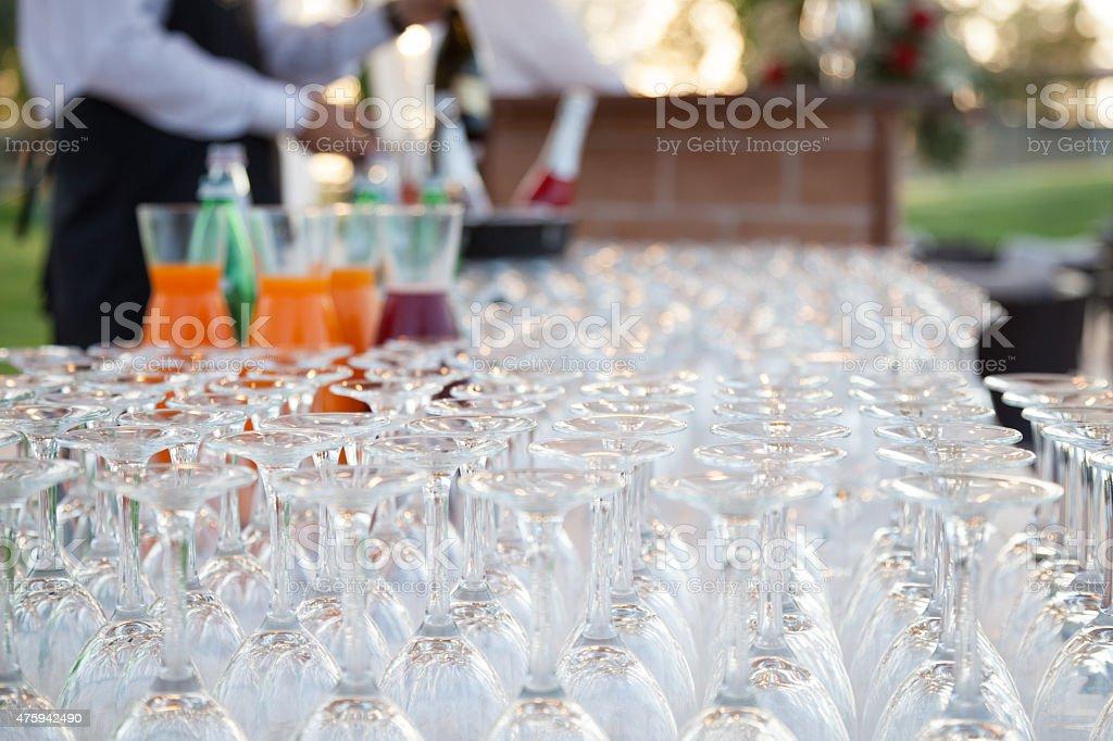 Set of wine glasses stock photo