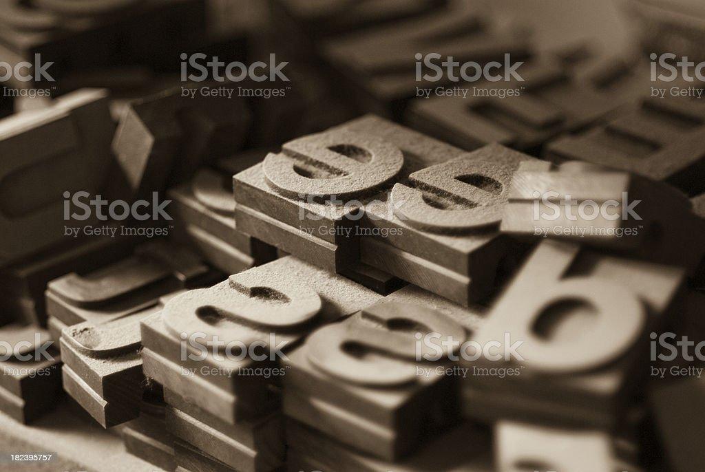 Set of wood type royalty-free stock photo
