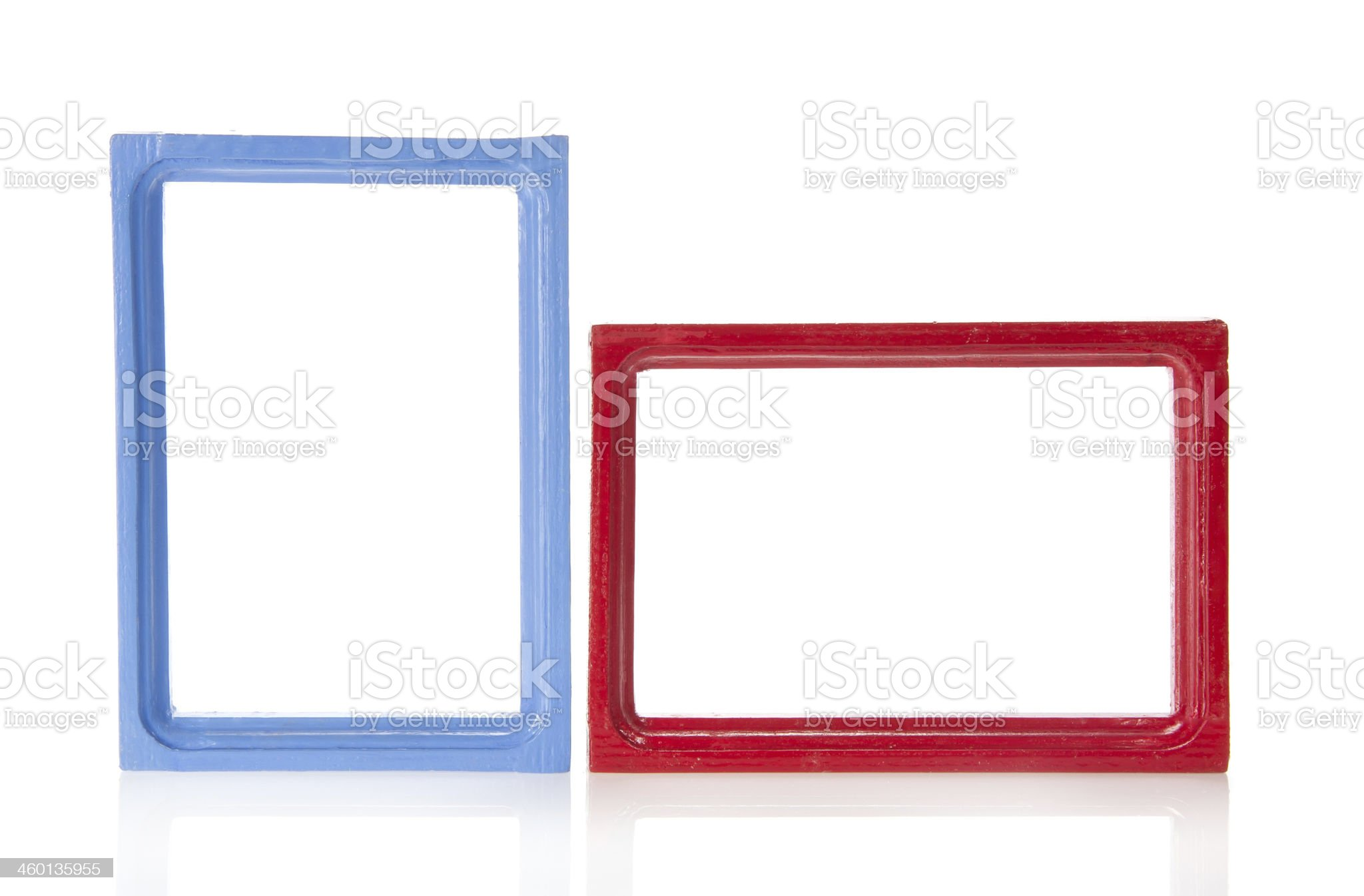 Set of wooden framework for photo royalty-free stock photo