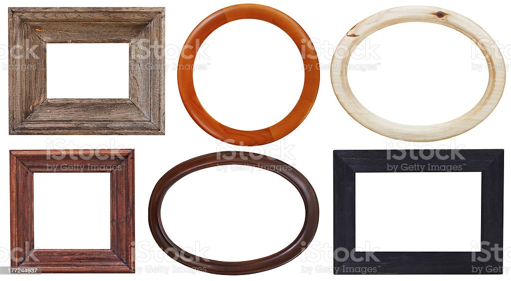 set of wooden picture frame royalty-free stock photo