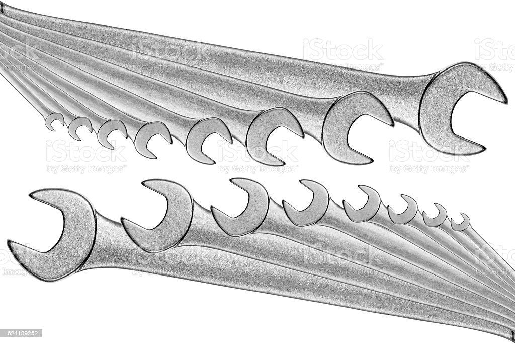 Set open box wrench spanner. royalty-free stock photo  sc 1 st  iStock & Set Open Box Wrench Spanner stock photo 624139252 | iStock Aboutintivar.Com
