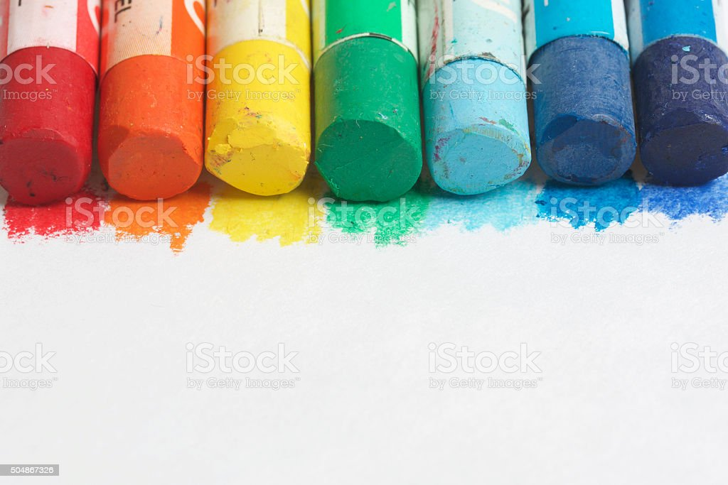 Set pastel art on a white background stock photo