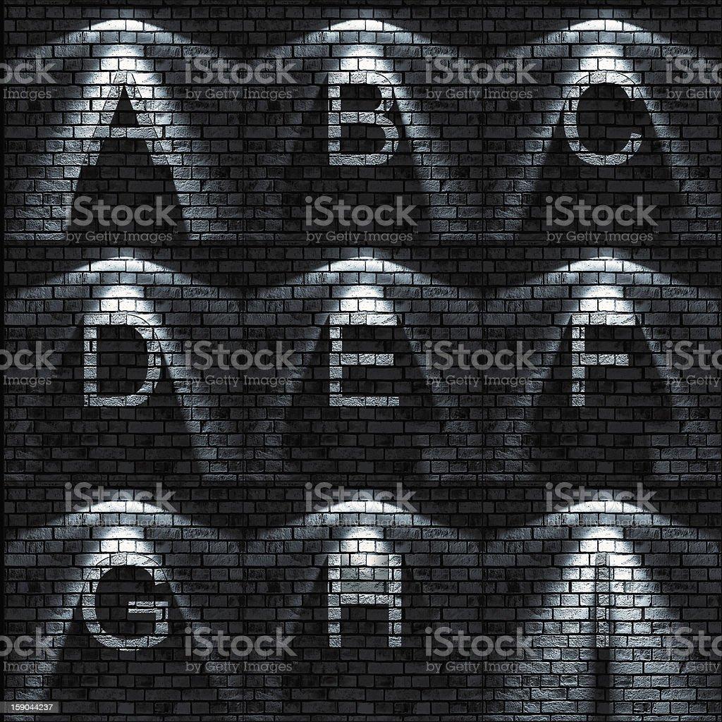 ABC set royalty-free stock photo