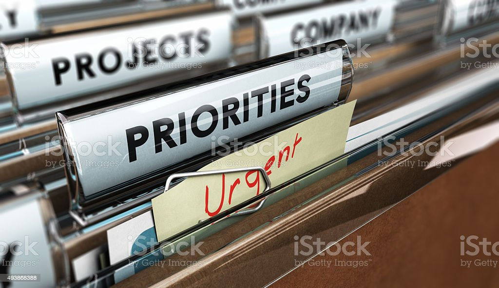 Set Priorities stock photo