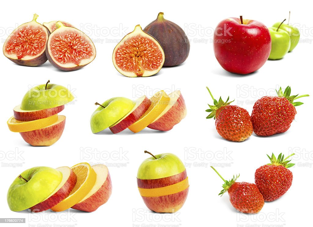 Set ripe fruit royalty-free stock photo