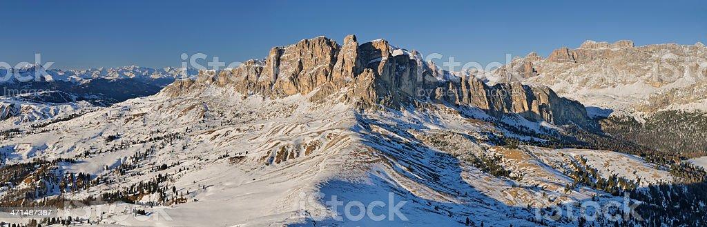 Set Sass Panorama (Dolomites - Italy) stock photo