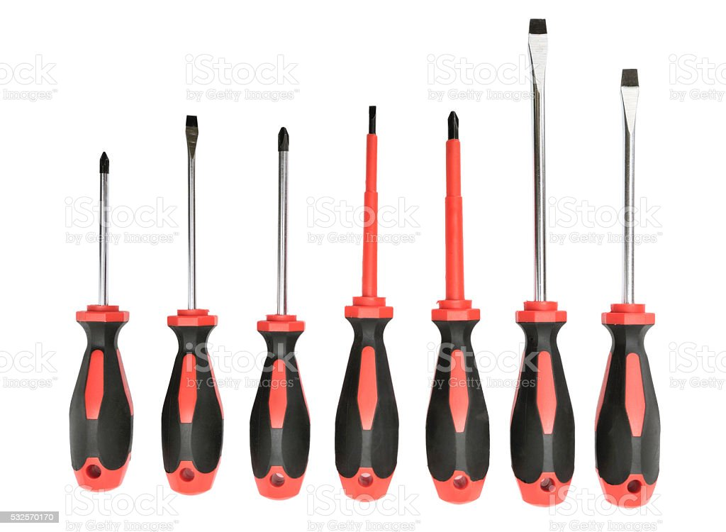 set screwdrivers stock photo