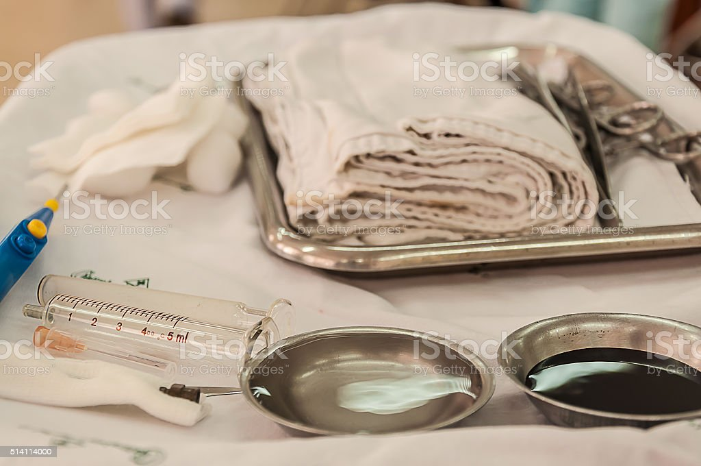 set suture stock photo