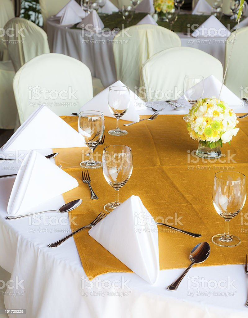 set tables with party favors royalty-free stock photo