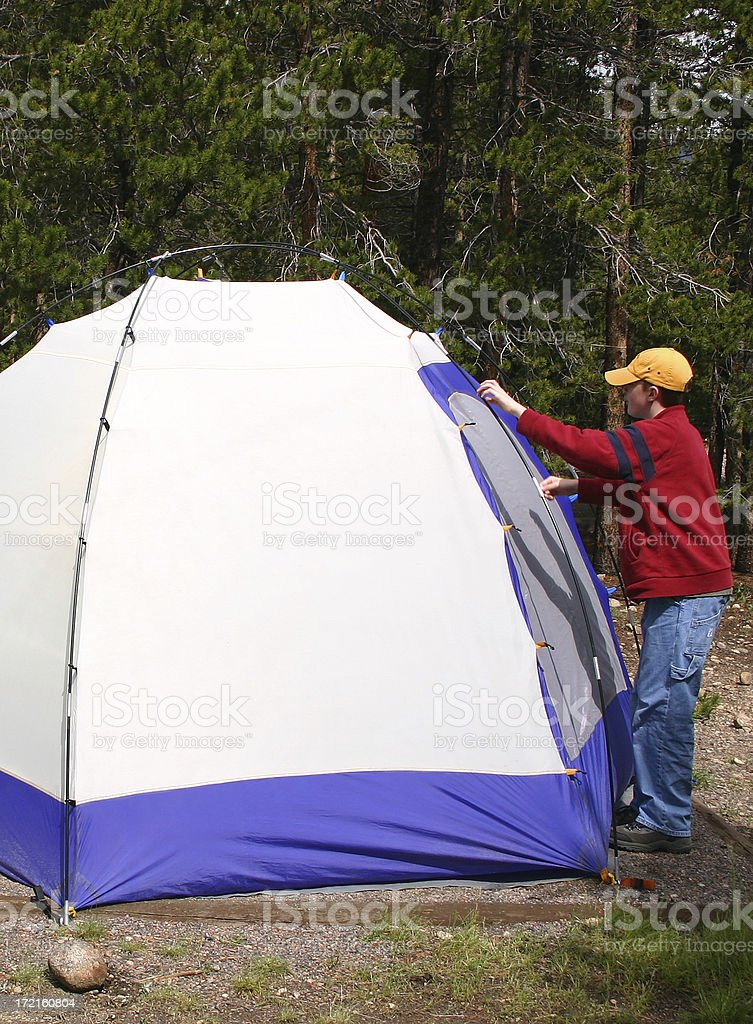 Set the Tent royalty-free stock photo