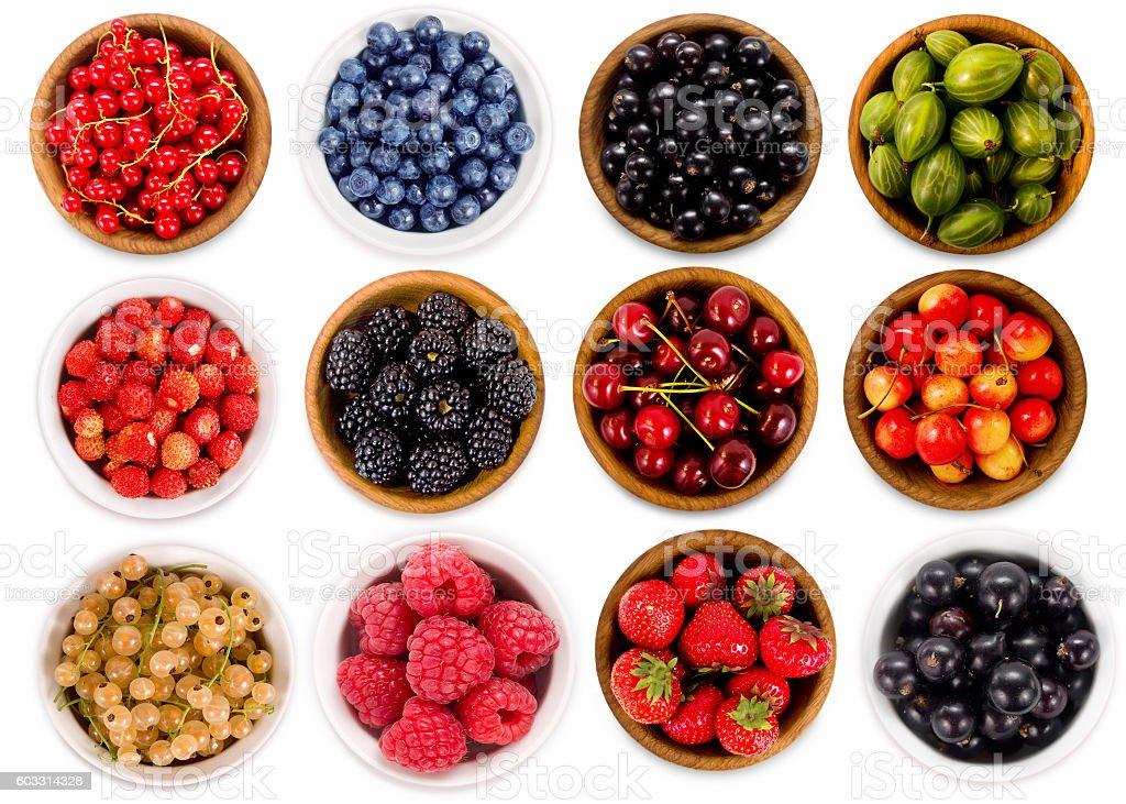 Set various berries. stock photo