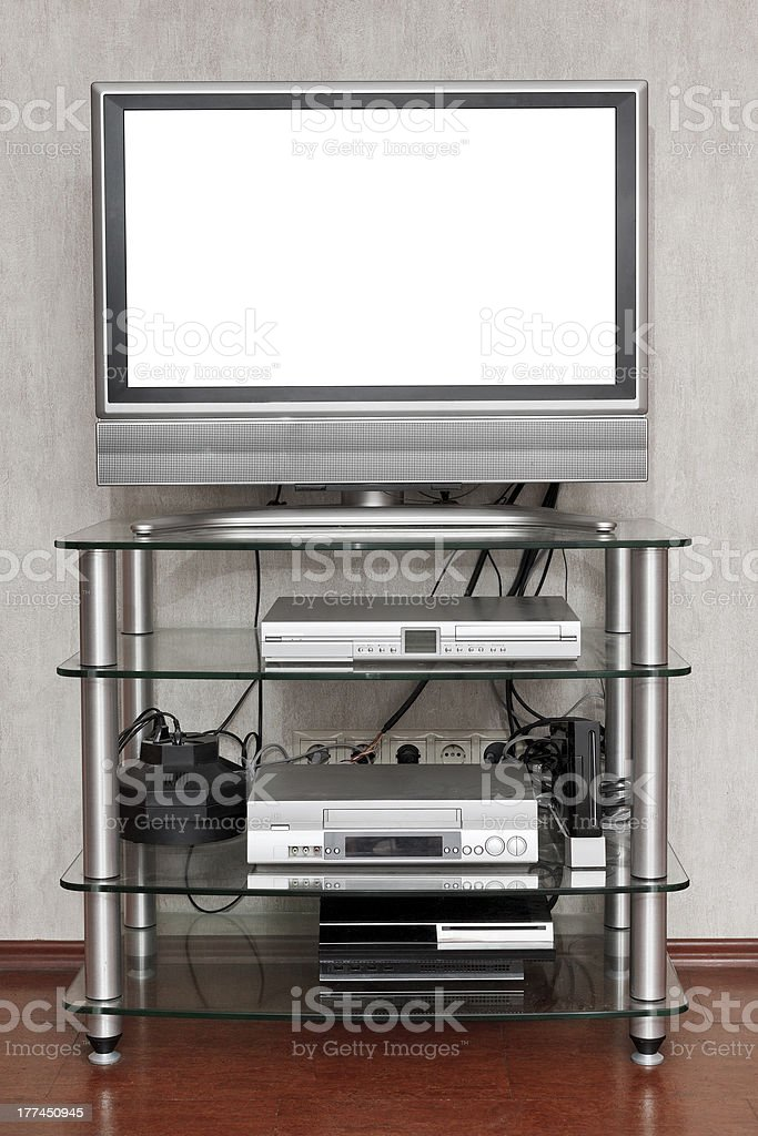TV set with cut out screen royalty-free stock photo