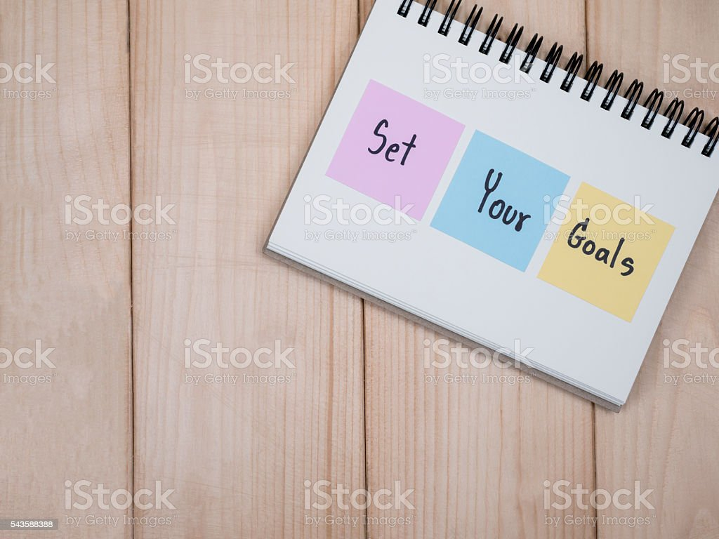 Set your goals 2 stock photo