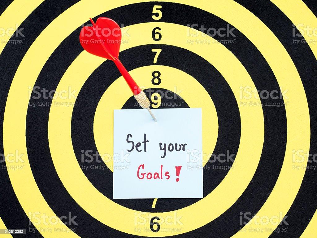 Set your goals 3 stock photo