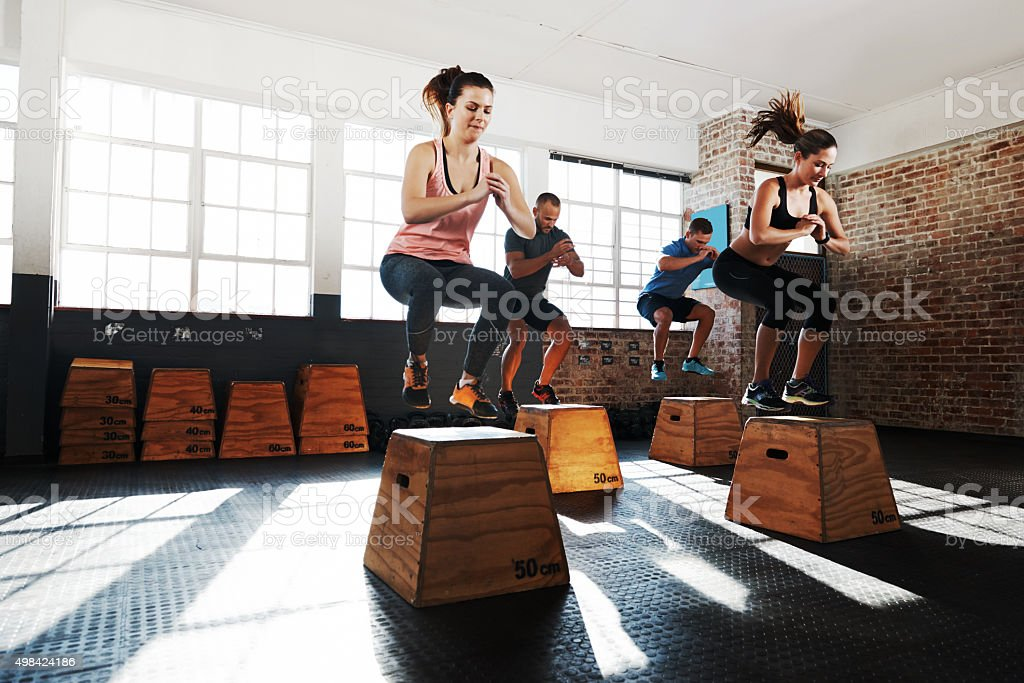 Set your sights on higher fitness levels stock photo