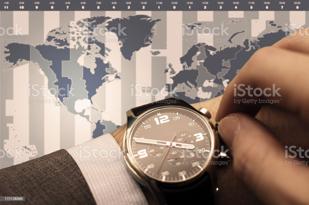 Set your time [north america] stock photo
