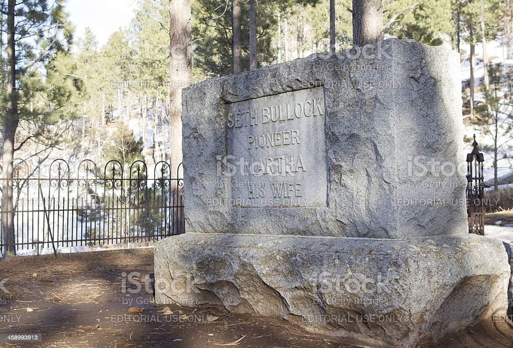 Seth Bullock's Grave - Deadwood, South Dakota royalty-free stock photo