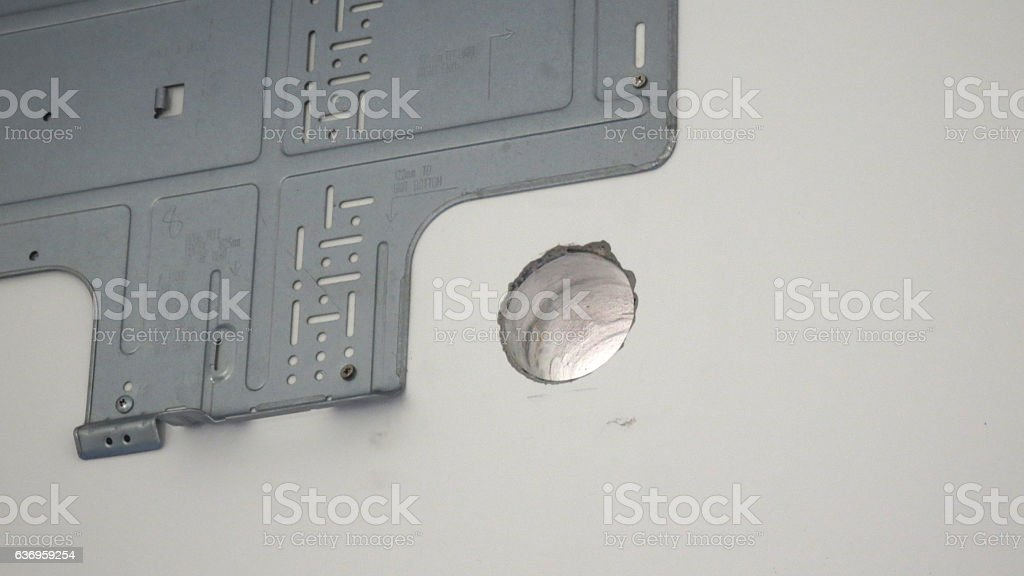 seting up  Air Conditioning System stock photo