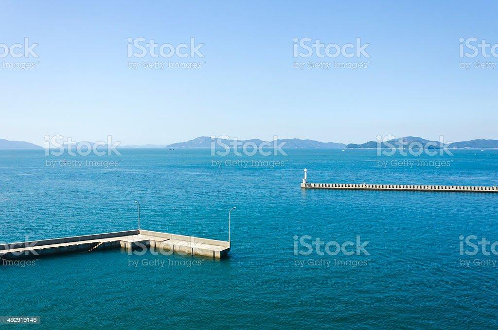 Seto inland sea in Japan stock photo
