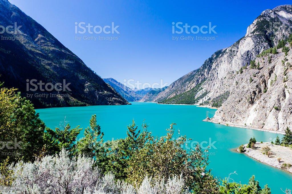 Seton Lake, BC, Canada stock photo