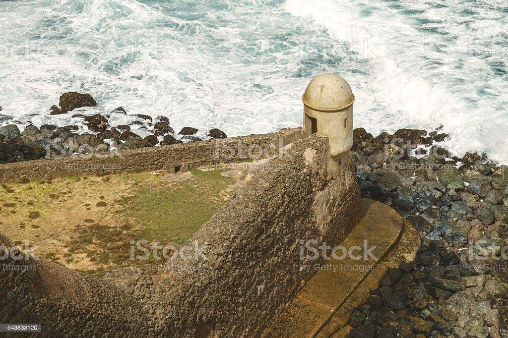 Setry box at El Morro Fortress, San Juan Puerto Rico stock photo
