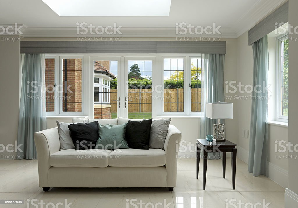 settee and side table stock photo
