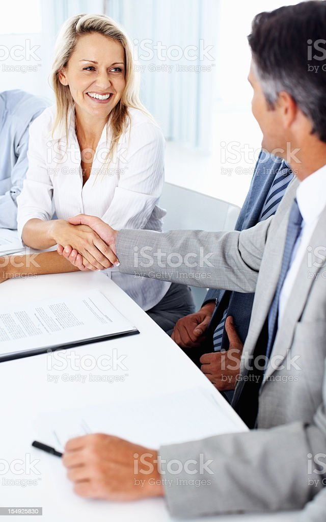 Setting a business deal royalty-free stock photo