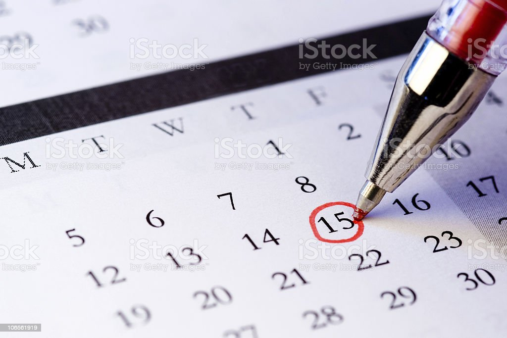 Setting a date royalty-free stock photo