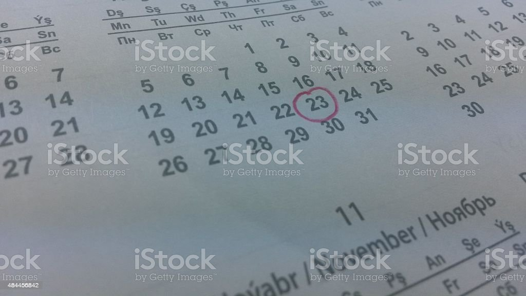 Setting a date stock photo