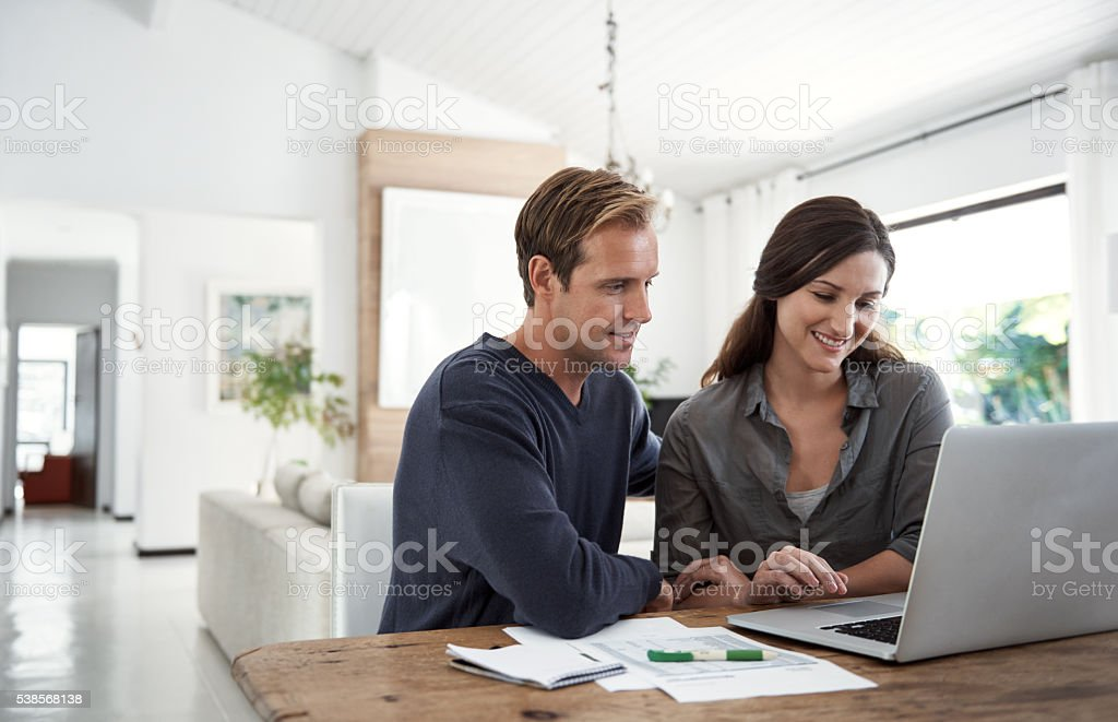 Setting financial goals as a couple stock photo
