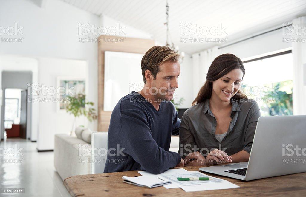 Setting financial goals as a couple stock photo