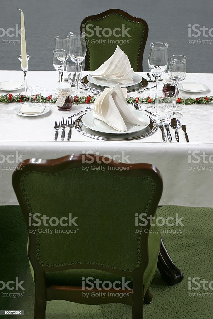 Setting for two royalty-free stock photo