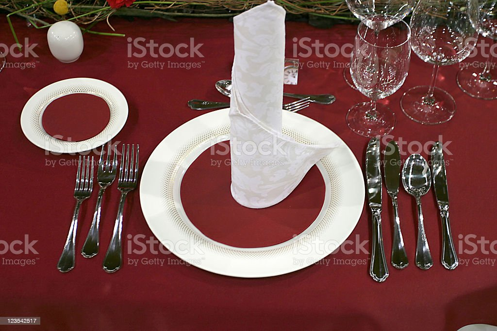 Setting in red royalty-free stock photo