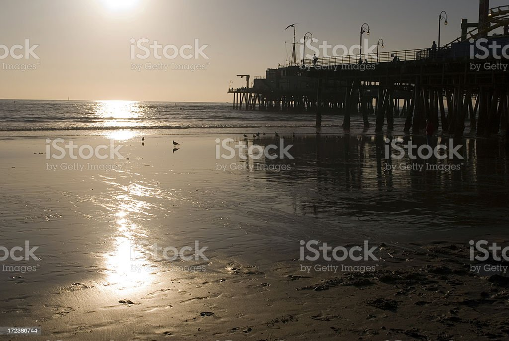 Setting on the beach royalty-free stock photo
