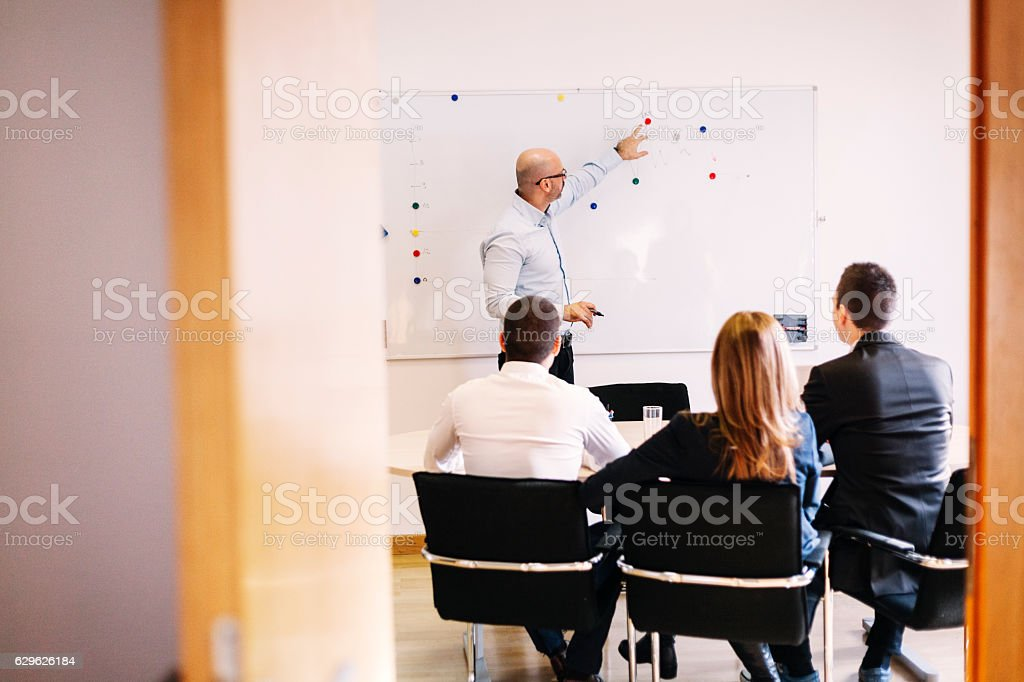 Setting targets for the year royalty-free stock photo