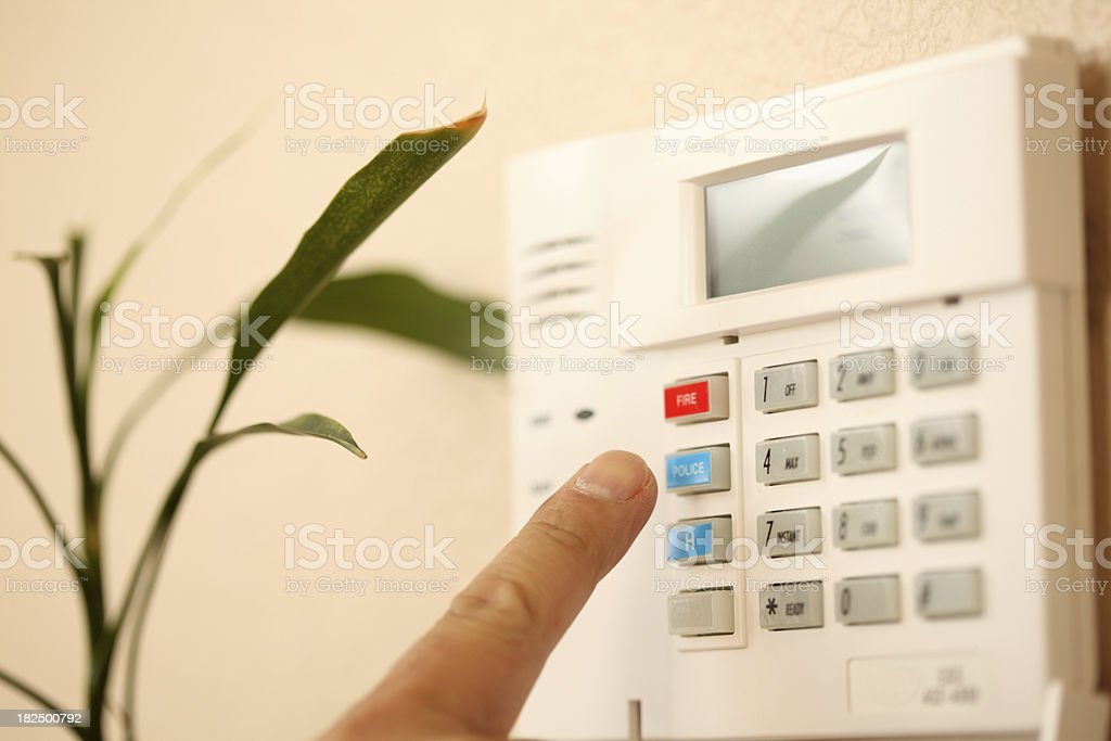setting the alarm royalty-free stock photo