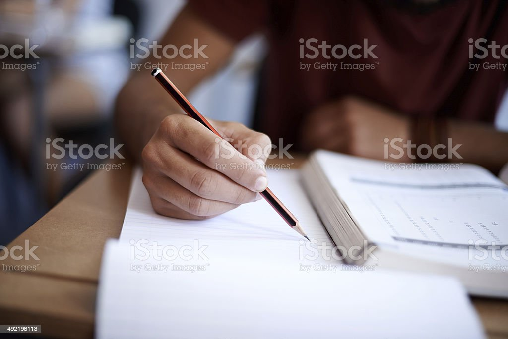 Setting the page on fire with some hard work stock photo