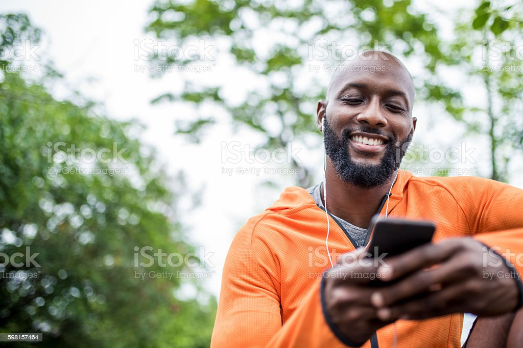 Setting the right mood for training stock photo